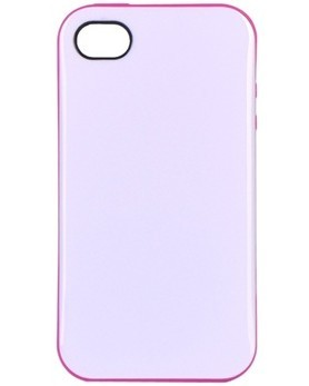 White with pink edges Verge Series Iphone 4 / Iphone 4S Shield Shell