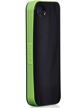 Black with green edges Verge Series Iphone 4 / Iphone 4S Shield Shell